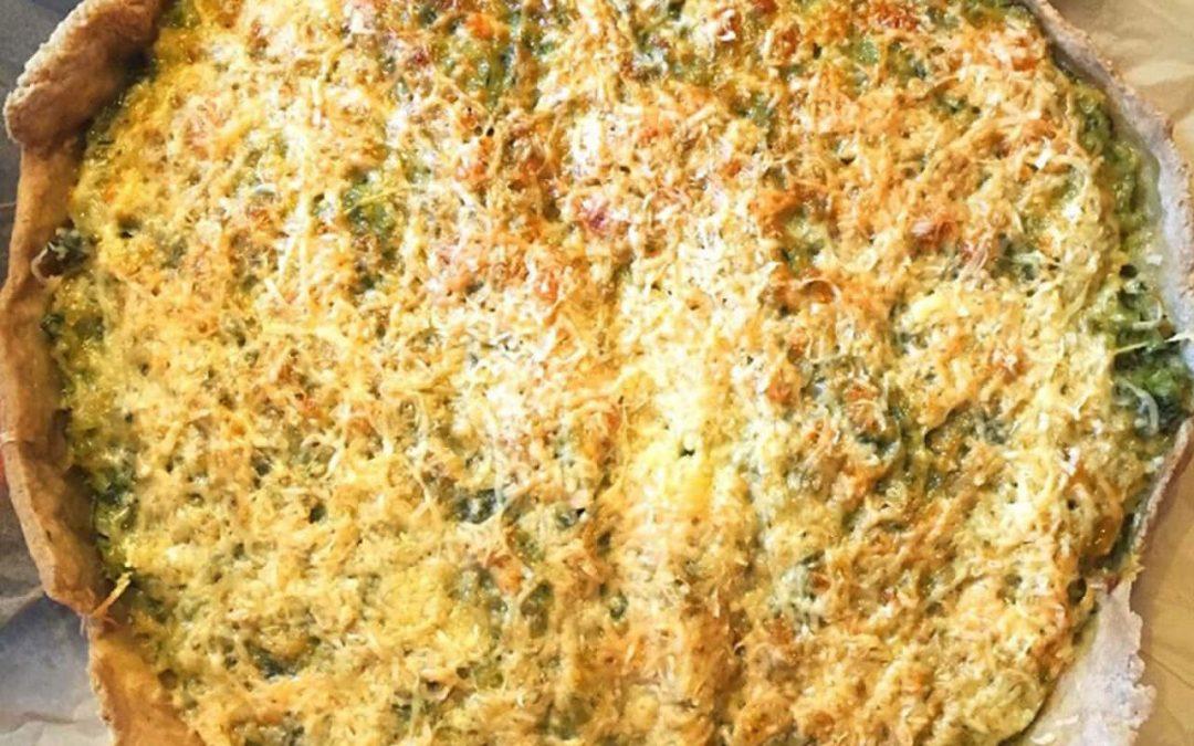 Kecske sajtos – cukkinis quiche, vagyis francia sós pite